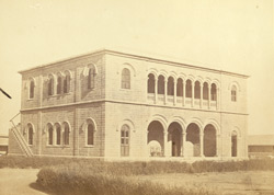 The offices of the Indo European Telegraph Department, Kurrachee [Karachi]. Mechanicians Quarters.